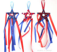ribbon streamers 4th of july kids craft popsicle stick streamers happiness