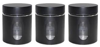 kitchen canisters black canisters 3 black priority chef
