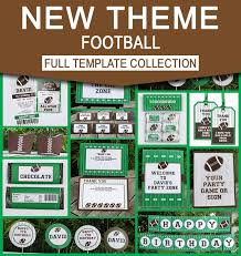 football ticket invitations and party decorations