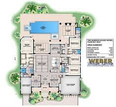 harbor house plan luxury caribbean beach home outdoor living pool