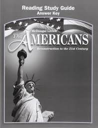 amazon com the americans reading study guide answer key grades 9