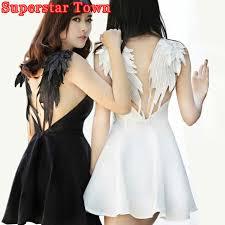 swan dress aliexpress buy angel wings embroidery dress summer
