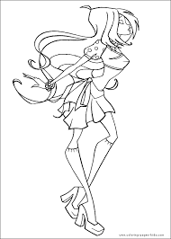 winx club color coloring pages kids cartoon