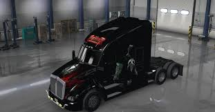 kenworth t680 engine punisher skin for the kenworth t680 american truck simulator mod