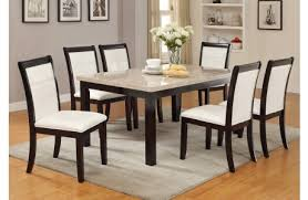 Faux Marble Top Dining Table Collection In Marble Top Dining Table And Brayden Faux Marble Top