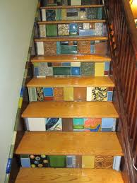decorating inspiring motawi tile stair risers