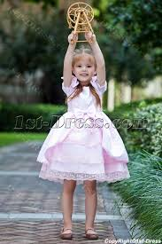 pink classical flower dresses for toddlers 1st dress