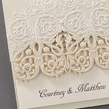 lace invitations lace wedding invitations flamingo