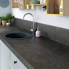 plan de travail cuisine stratifié leroy merlin plan de travail stratifié noir mat l 315 x p 65 cm ep 58 mm