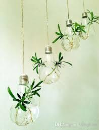 Wood Vases Wholesale Wholesale Fashion Light Bulb Shape Glass Hanging Terrarium Bulb