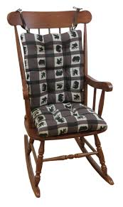 Rocking Chairs Cushions The Gripper Jumbo Animal Plaid Rocking Chair Cushions Rocker Sets