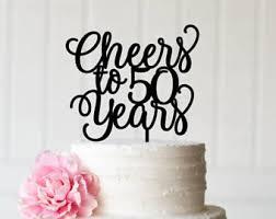 50th cake topper etsy