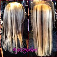 brown lowlights on bleach blonde hair pictures bleach barbie blonde to multi dimensional blonde beauty with