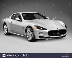 maserati quattroporte coupe 2010 silver maserati granturismo two door coupe luxury car stock