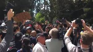 at least 2 arrested at uc berkeley dueling protests after ann