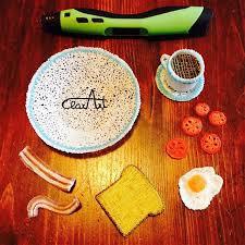 creation cuisine 3d 3d pen breakfast clarart creations ideas 3d pen
