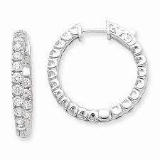inside out diamond hoop earrings diamond hoop earrings