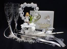 miss piggy kermit frog wedding cake topper lot glasses server set