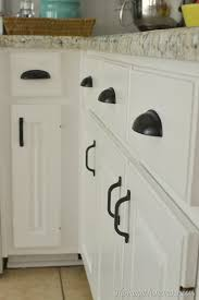 Cabinet Handles For Kitchen How To Re Paint Your Yucky White Cabinets