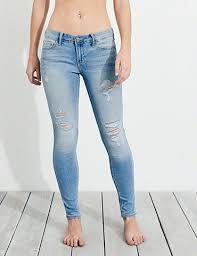 hollister light wash jeans super skinny jeans for girls hollister co