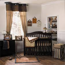 Deer Nursery Bedding Dazzling Decorating Ideas Using Rectangular Brown Wooden Headboard