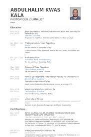 Resume Sample Applying Job by Journalism Resume Samples Visualcv Resume Samples Database Example