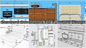 Standard Measurement Of House Plan Standard Dimensions For Furniture Design In Our Homes