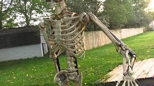 halloween posable skeleton standing skeleton finished product youtube