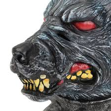 latex halloween mask kits wolfhound head mask creepy animal halloween costume theater prop
