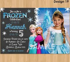 disney frozen birthday invitations custom personalized