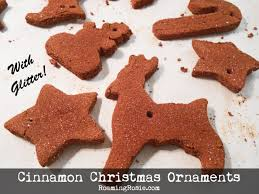 how to make cinnamon ornaments with glitter roaming rosie