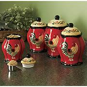 rooster kitchen canister sets 4 rooster canister set all things roosters chickens