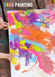 sand or glitter painting children u0027s art projects pinterest