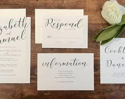 calligraphy wedding invitations calligraphy wedding invitation etsy