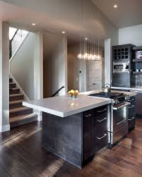 kitchen island modern modern home in eugene oregon by jordan iverson signature homes