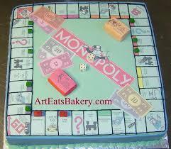 edible money community unique monopoly board birthday cake with edible
