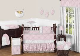 Pink And Gray Nursery Bedding Sets by Sweet Jojo Designs Pink And Gray Alexa Butterfly Baby Bedding 9pc
