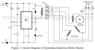 3 phase induction motor starter verified project best