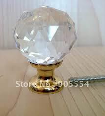 d30mmxh42mm 10pcs lot free shipping brass base crystal glass