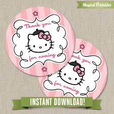 kitty paris printable birthday favor tag labels instant download