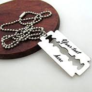 Custom Necklace Personalized Mens Necklaces Engraved Pendants For Men