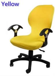 computer chair cover yellow colour lycra computer chair cover fit for office chair with