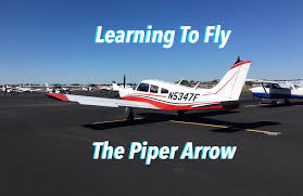learning to fly a piper arrow runup takeoff slow flight and