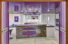 stylish kitchen trendy color upgrade stylish kitchens in shades of violet and purple