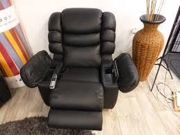 la z boy cool leather recliner massage u0026 built in fridge cooler