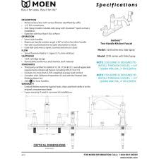moen 7250c belfield chrome two handle centerset kitchen faucets