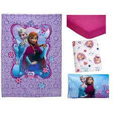 disney frozen elsa u0026 anna 4 piece toddler bedding set walmart com