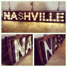 nashville wood marquee sign city reclaimed wood rustic home decor signs