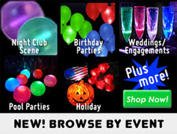 glow in the party decorations glowsource glow in the party supplies led novelty