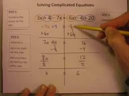 solving equations with combining like terms and variables on both